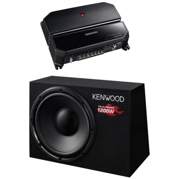 KENWOOD KAC-PS702 + KSC-W1200B